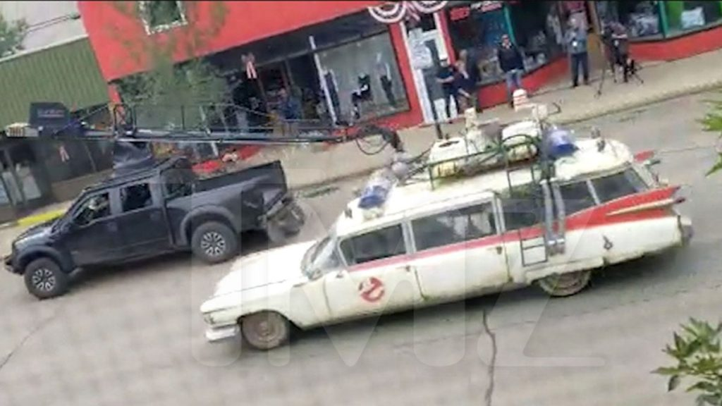 'Ghostbusters' Car Burns Rubber Filming on Streets of Canada