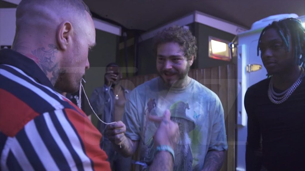 Post Malone Hooked by Magic Trick While Performing in the UK